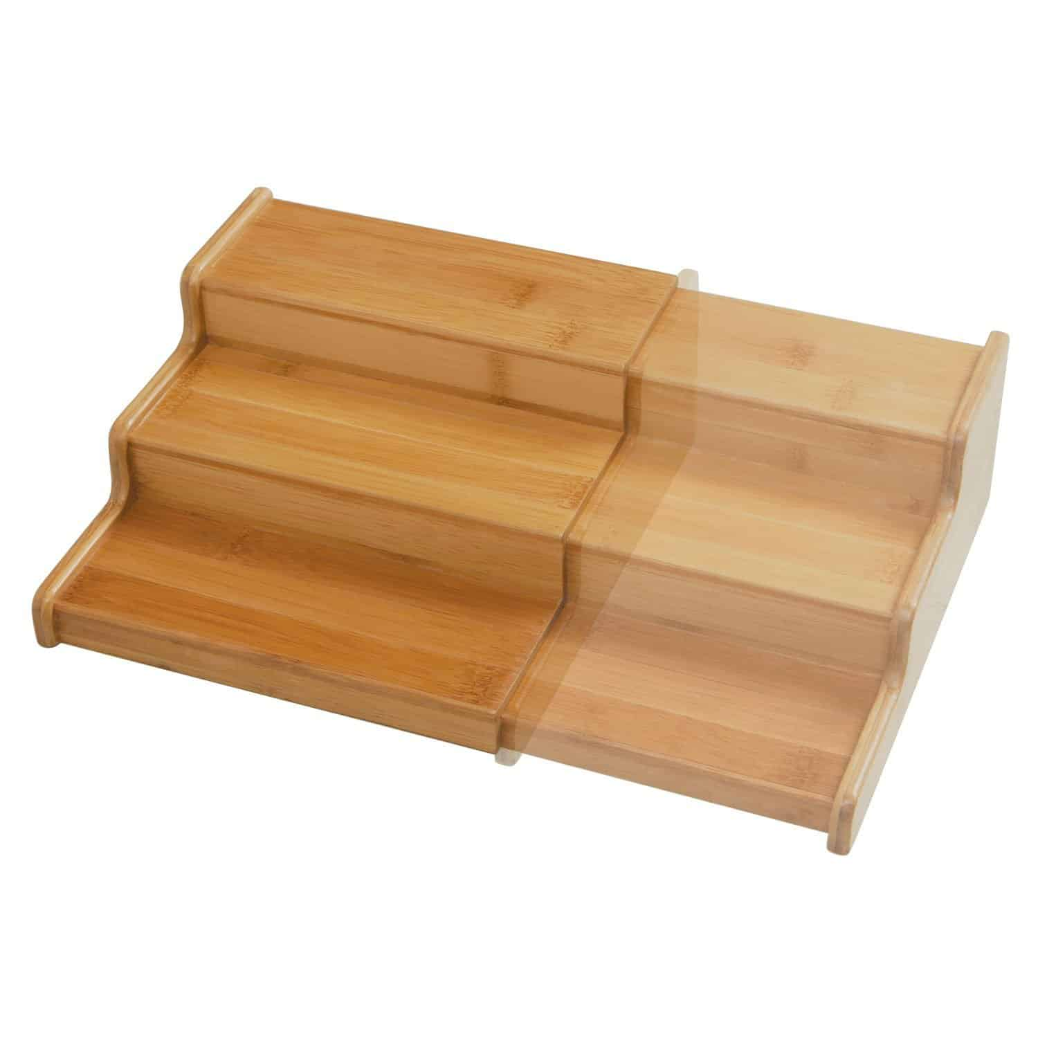expandable bamboo spice rack