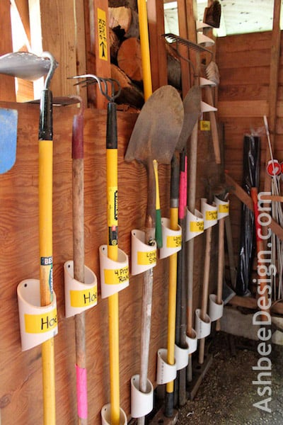 using pvc pipes for storage