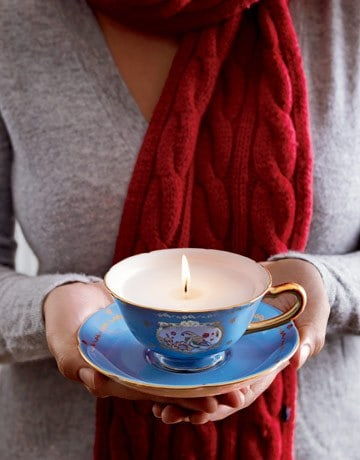 Tea cup candle holder #DIYGifts