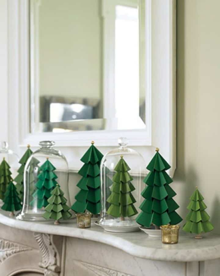Paper evergreen forest DIY decoration. #DIYDecorations #HomeDecor