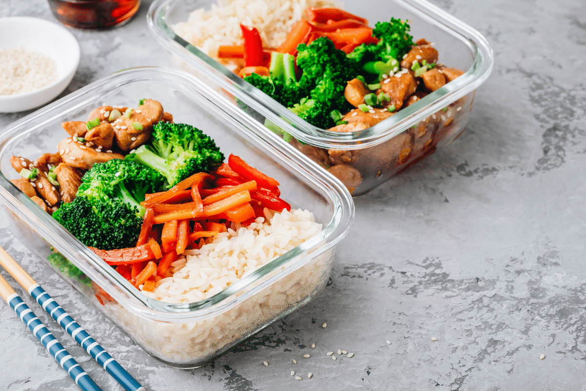 Meal plan and prep glass containers