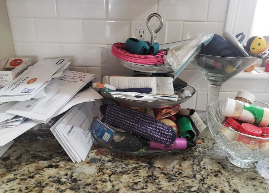 Eliminate Visual Clutter - the before picture with ALL the clutter