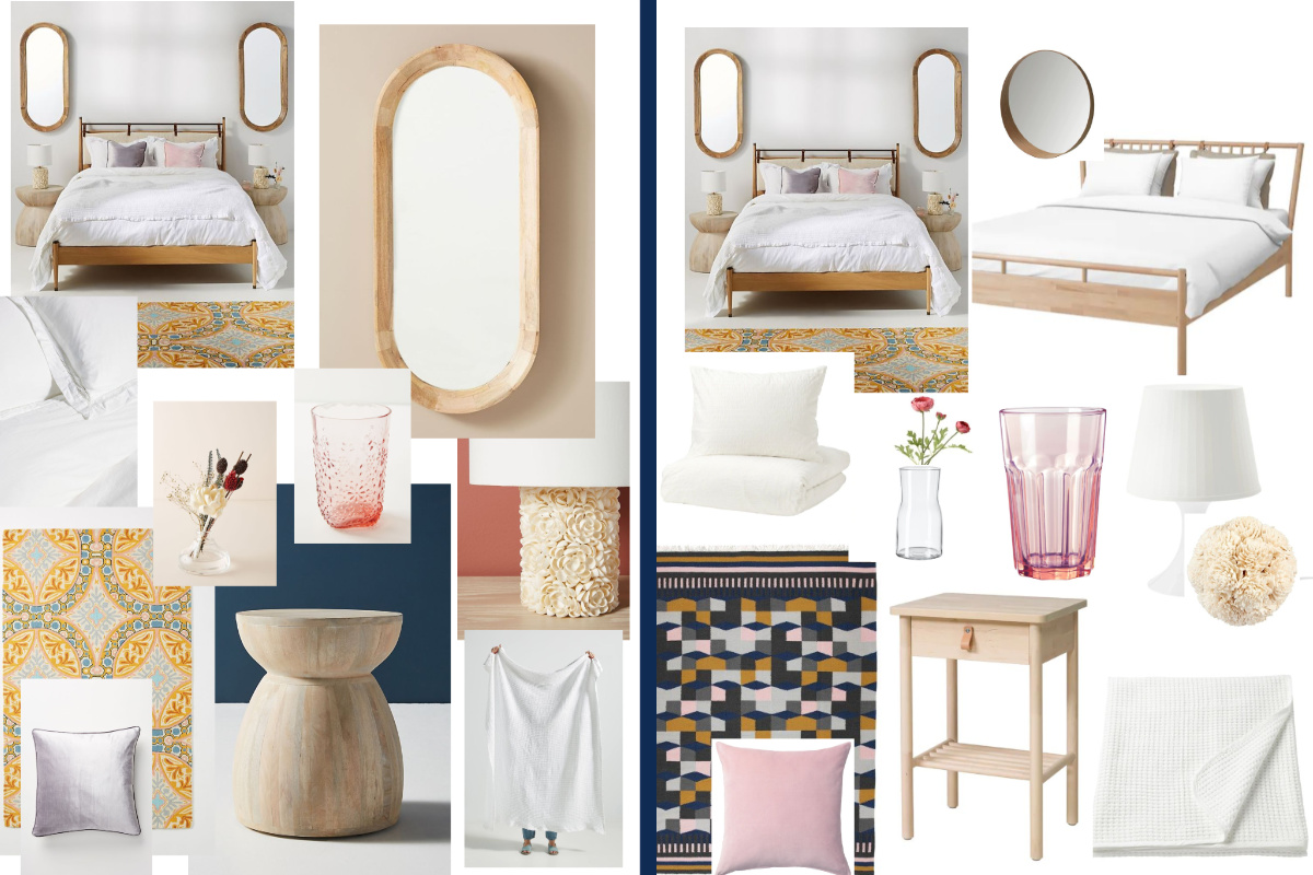 Shop The Look Anthro Style Bedroom At Ikea Prices