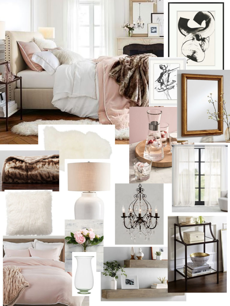 Pottery Barn Glam Bedroom Elements