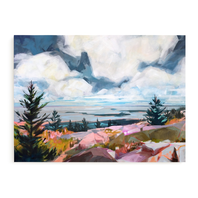 Take A Break Wall Art from Minted Abstract Landscape Large Wall Art for the Bedroom