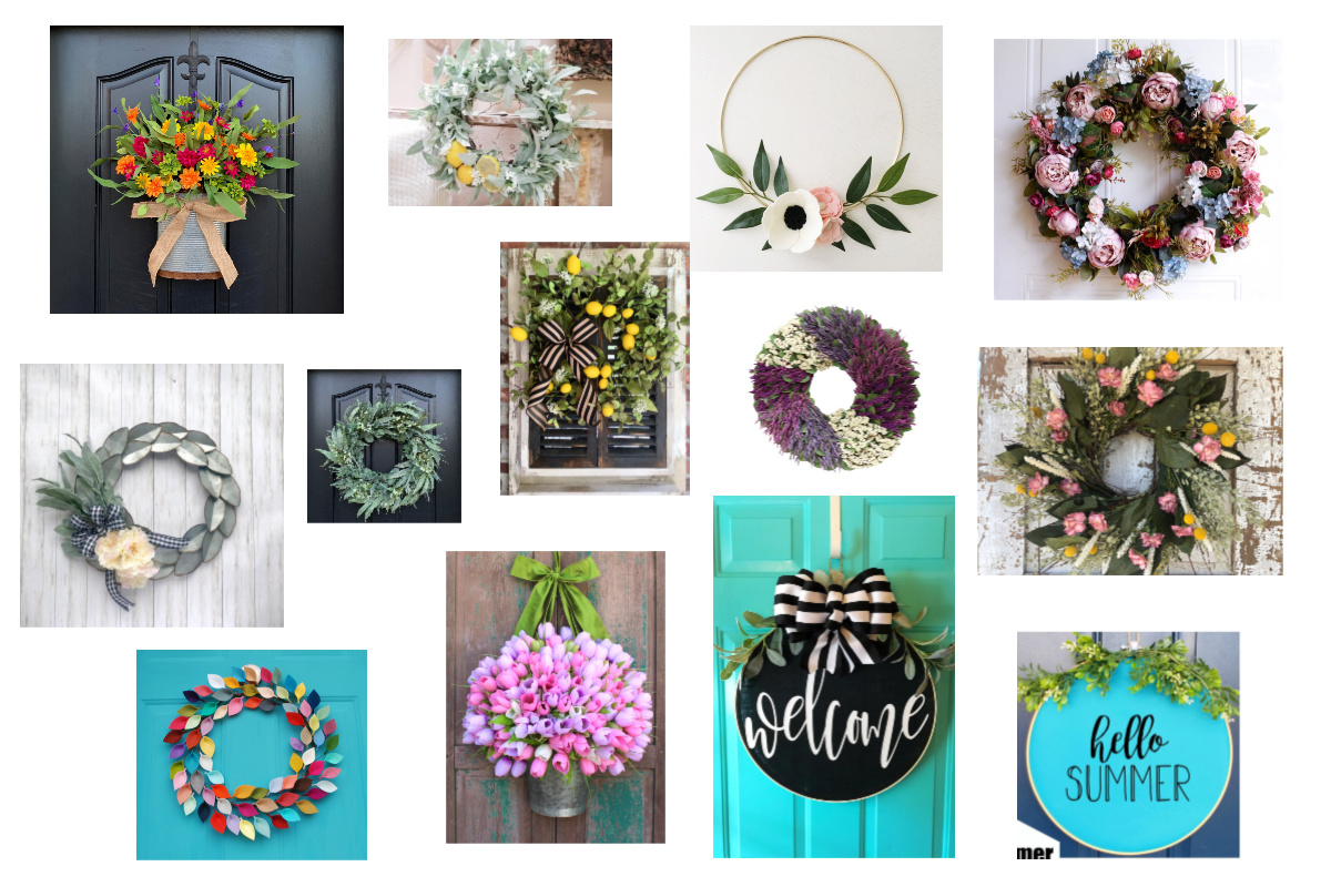 summer wreaths feature