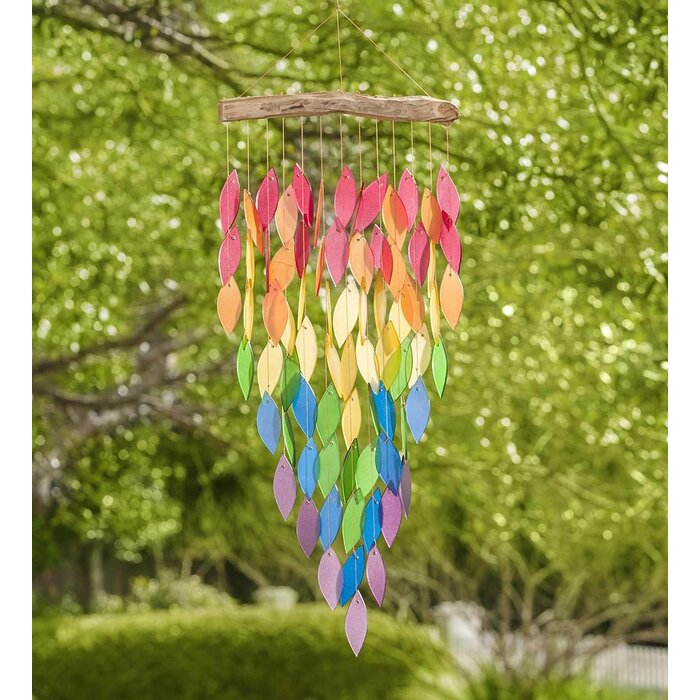 Rainbow glass wind chime