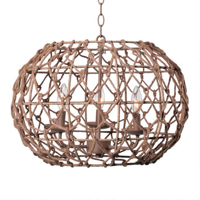 natural rope pendant light for a beachy feel.