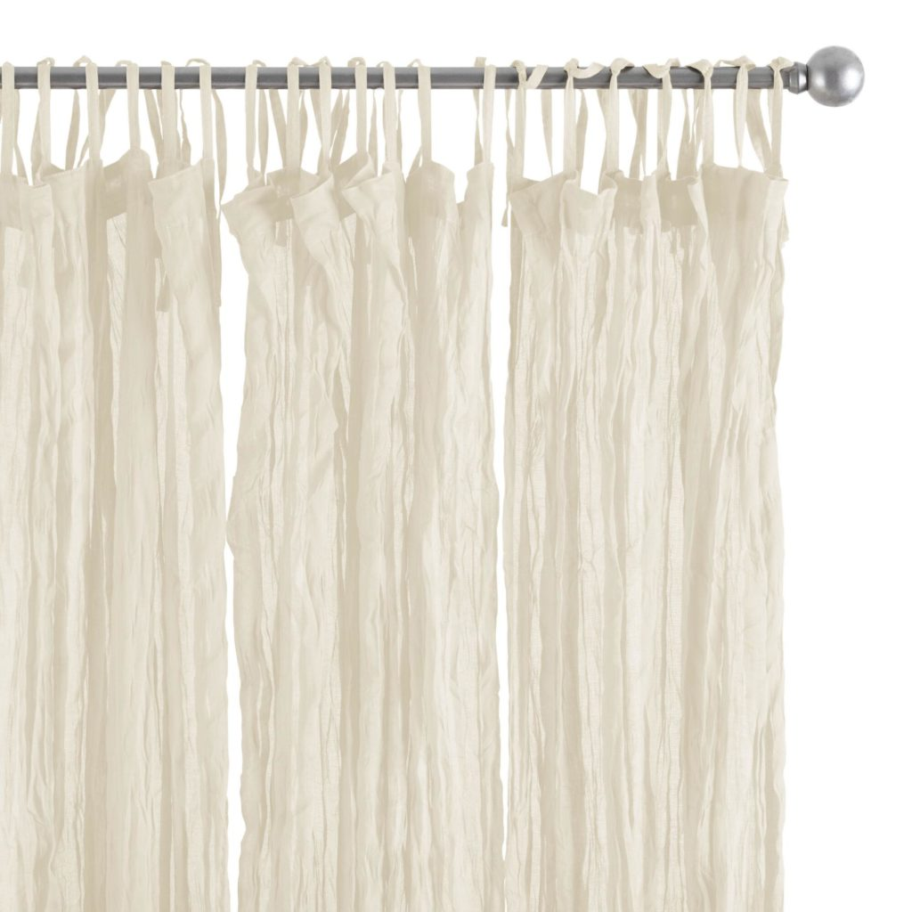 summery curtains, crinkly