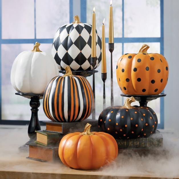 Prettty painted pumpkins that you can use every Fall for decor.