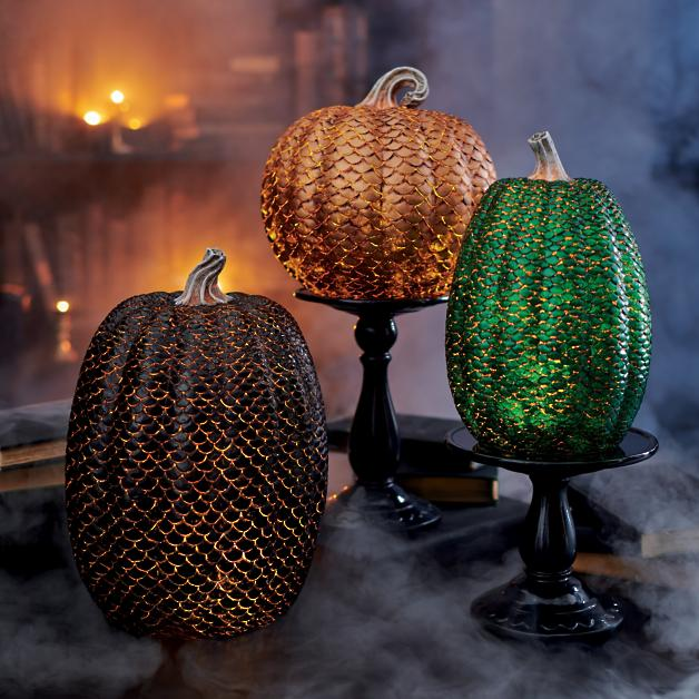 These dragon scale pumpkins are show stoppers.