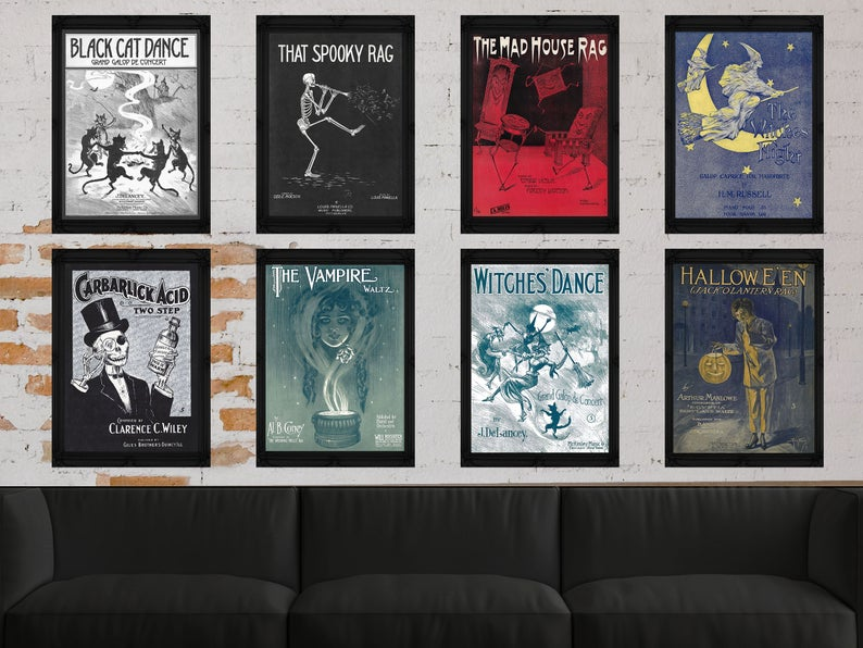 Halloween prints for a gallery wall.