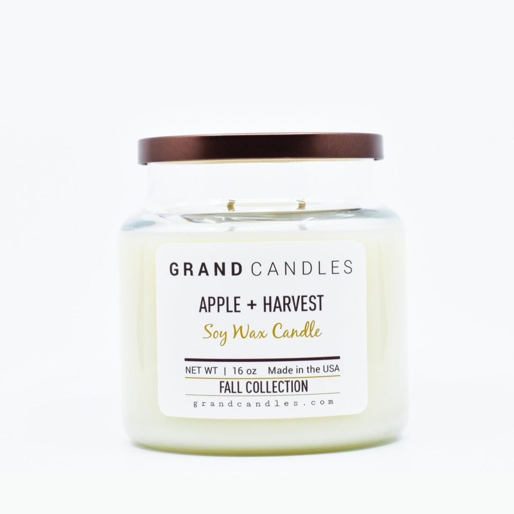 apple fall candle