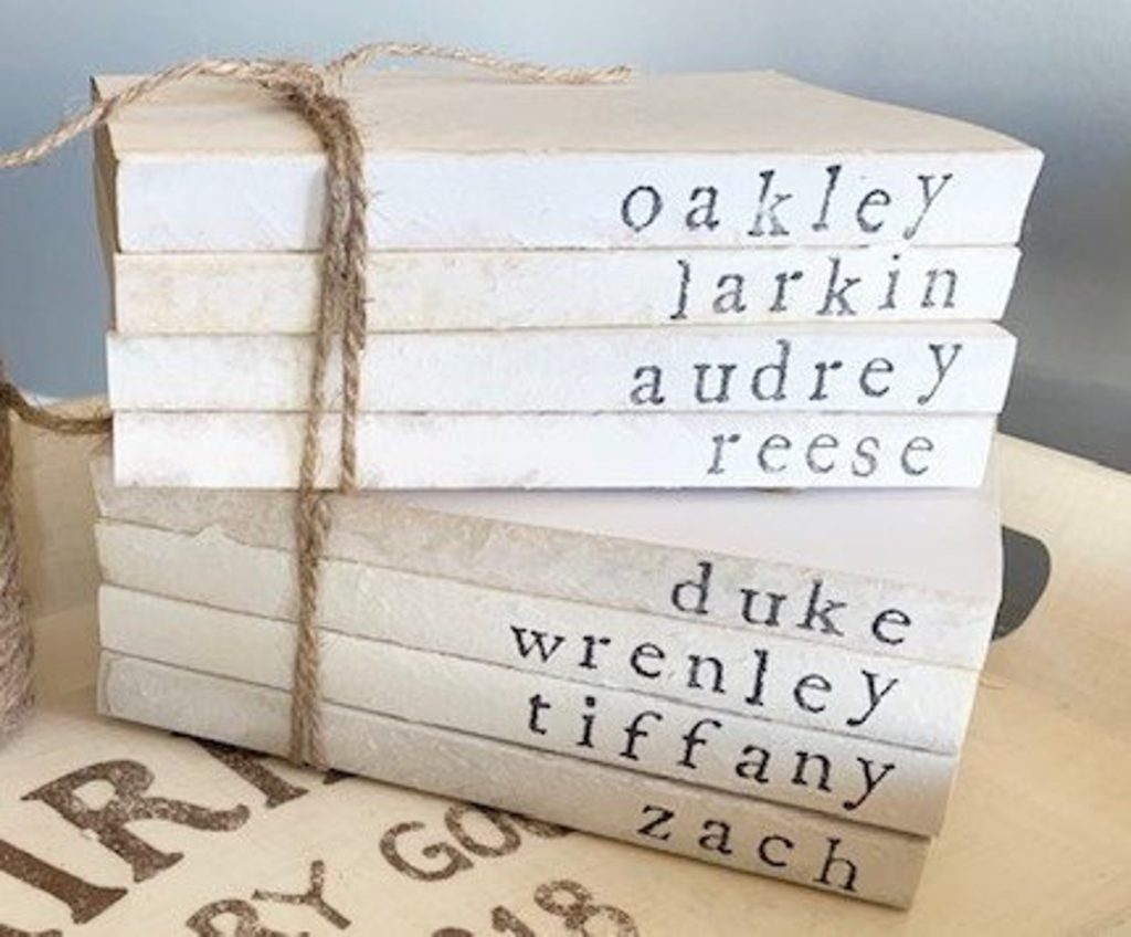 Personalized Decorative Book Set for your Farmhouse Gifts